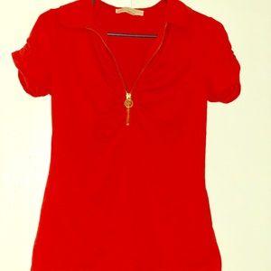 Short Sleeve Orange MK Collar Shirt